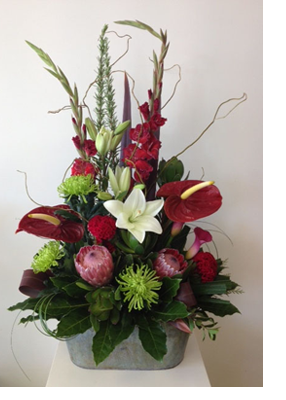 Contemporary Floral Arrangement from Bethlehem Floral Studio